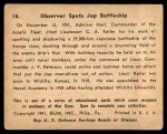 1941 Gum Inc. War Gum #18   Observer Spots Japanese Battleship Back Thumbnail