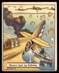 1941 Gum Inc. War Gum #18   Observer Spots Japanese Battleship Front Thumbnail