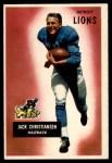 1955 Bowman #28  Jack Christiansen  Front Thumbnail