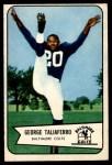 1954 Bowman #50  George Taliaferro  Front Thumbnail