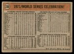 1972 Topps #230  Manny Sanguillen / Luke Walker / Gene Clines 1971 World Series - Summary - Pirates Celebrate Back Thumbnail