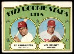 1972 Topps #524   -  Ed Ambrister / Mel Behney Reds Rookies   Front Thumbnail