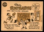 1960 Topps #224  Paul Richards  Back Thumbnail