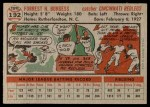 1956 Topps #192  Smoky Burgess  Back Thumbnail