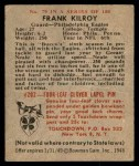 1948 Bowman #79  Frank Kilroy  Back Thumbnail