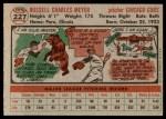 1956 Topps #227  Russ Meyer  Back Thumbnail