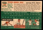 1954 Topps #43  Dick Groat  Back Thumbnail