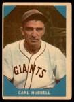 1960 Fleer #4  Carl Hubbell  Front Thumbnail