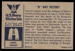 1954 Bowman U.S. Navy Victories #17   D Day Victory Back Thumbnail