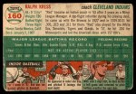 1954 Topps #160  Red Kress  Back Thumbnail