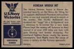 1954 Bowman U.S. Navy Victories #26   Korean Bridge Hit Back Thumbnail