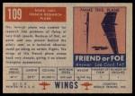 1952 Topps Wings #109   Nord 1601 Back Thumbnail