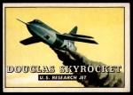 1952 Topps Wings #185   Douglas Skyrocket Front Thumbnail