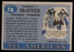 1955 Topps #74  Gene McEver  Back Thumbnail
