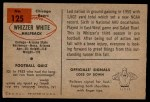 1954 Bowman #125  Whizzer White  Back Thumbnail