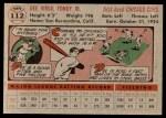 1956 Topps #112 GRY Dee Fondy  Back Thumbnail