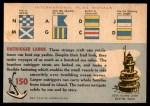1955 Topps Rails & Sails #150   Outrigger Canoe Back Thumbnail