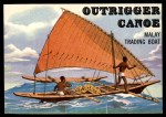 1955 Topps Rails & Sails #150   Outrigger Canoe Front Thumbnail