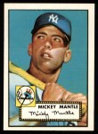1952 Topps REPRINT #311  Mickey Mantle  Front Thumbnail