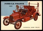1954 Topps World on Wheels #117   Ford-La France Hose Truck 1920 Front Thumbnail