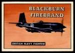 1952 Topps Wings #168   Blackburn Firebrand Front Thumbnail