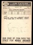 1959 Topps #155  Jim Taylor  Back Thumbnail