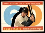 1960 Topps #565   -  Roger Maris All-Star Front Thumbnail