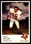 1961 Fleer #209  Paul Miller  Front Thumbnail