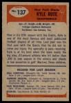 1955 Bowman #137  Kyle Rote  Back Thumbnail