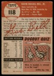 1953 Topps #118  Gus Bell  Back Thumbnail