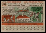1956 Topps #211  Murry Dickson  Back Thumbnail
