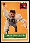 1956 Topps #28  Chuck Bednarik  Front Thumbnail