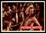 1956 Topps Davy Crockett #29 GRN  Vicious Battle  Front Thumbnail