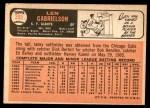 1966 Topps #395  Len Gabrielson  Back Thumbnail
