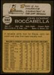 1973 Topps #592  John Boccabella  Back Thumbnail