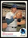 1973 Topps #126  Jim Brewer  Front Thumbnail