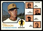 1973 Topps #517 ORG  -  Bill Virdon / Don Leppert / Bill Mazeroski / Dave Ricketts / Mel Wright Pirates Leaders Front Thumbnail