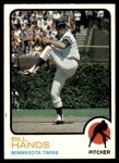 1973 Topps #555  Bill Hands  Front Thumbnail