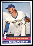 1976 Topps #39  Pete Broberg  Front Thumbnail