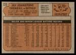 1972 Topps #233  Jay Johnstone  Back Thumbnail