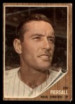 1962 Topps #90  Jimmy Piersall  Front Thumbnail