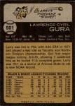 1973 Topps #501  Larry Gura  Back Thumbnail