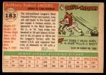 1955 Topps #183  Tony Jacobs  Back Thumbnail