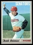 1970 Topps #175  Dick Bosman  Front Thumbnail