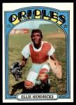 1972 Topps #508  Ellie Hendricks  Front Thumbnail