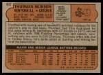 1972 Topps #441  Thurman Munson  Back Thumbnail
