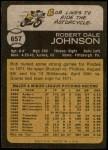 1973 Topps #657  Bob Johnson  Back Thumbnail