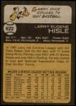 1973 Topps #622  Larry Hisle  Back Thumbnail