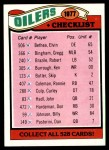 1977 Topps #211   Oilers Team Checklist Front Thumbnail