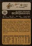 1973 Topps #284  Glenn Borgmann  Back Thumbnail